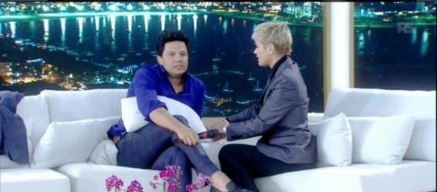 Xuxa recebeu Thiago Servo (Reprodução/Record)