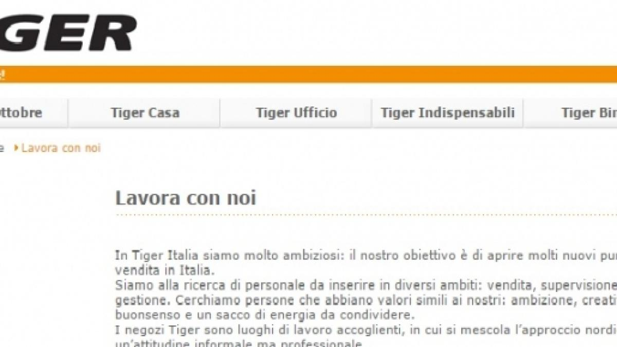Lavoro Tiger Assunzioni In Tutta Italia Nessun Requisito Specifico