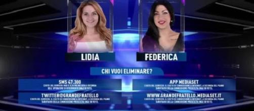 Grande Fratello 14 in nomination Lidia e Federica