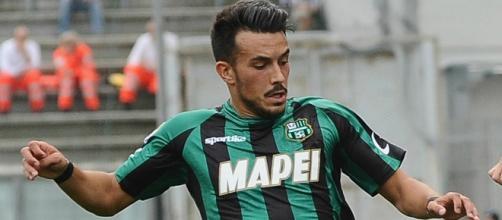 L'attaccante del Sassuolo Nicola Sansone