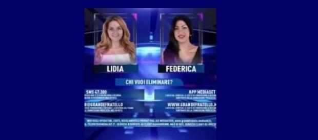 lidia e federica in nomination gf14