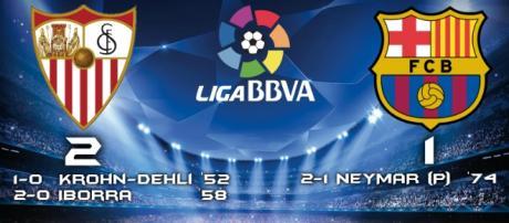 Sevilla 2-1 Barcelona Liga BBVA
