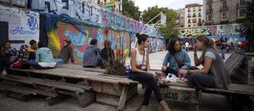 Mercado de la Cebada en el barrio de La Latina
