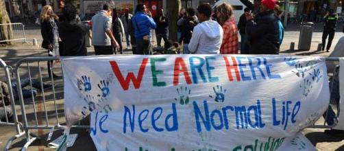 Refugees want to start a new life in Europe