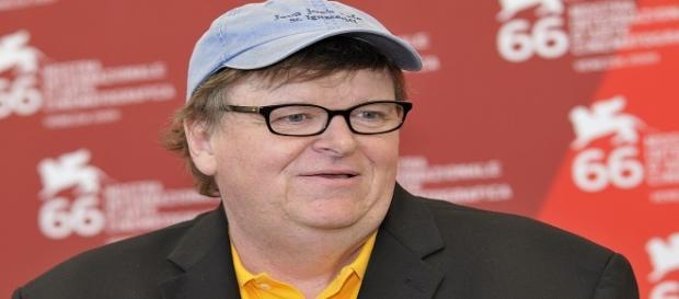 Il regista Michael Moore al Festival di Venezia