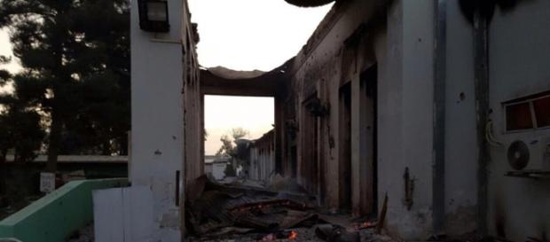 Prédio foi destruído por ataque- MSF/Reprodução