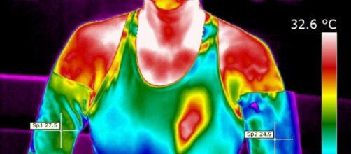 Imagem térmica permite ver ultimos instantes.