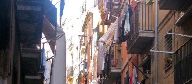 Calle del Barrio del Raval. Barcelona