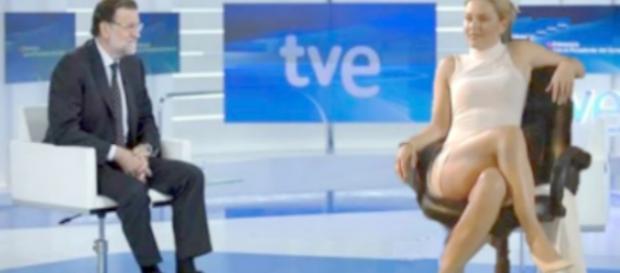Entrevista en TVE. Rajoy ni se inmuta