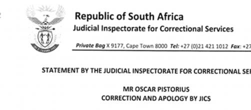 Image scan courtesy Support for Oscar Pistorius