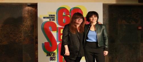 Isabel Coixet y Juliette Binoche en la SEMINCI