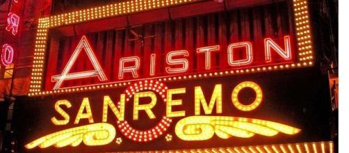 L' insegna del Festival di Sanremo