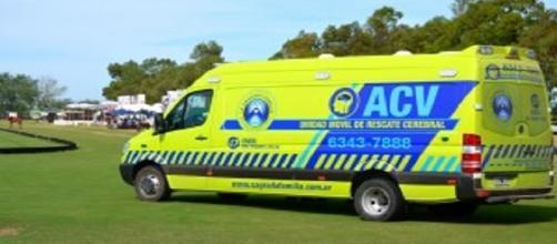 Una de las ambulancias para atender casos graves