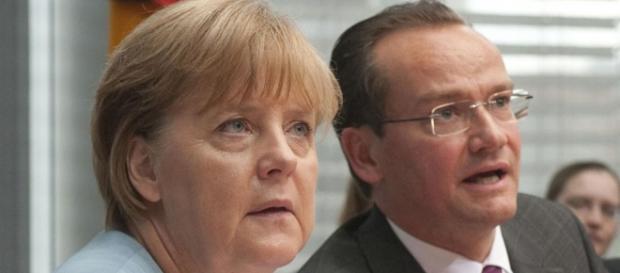 Angela Merkel, alături de Gunther Krichbaum
