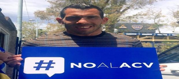 Carlos Tévez se solidarizó con la causa #NOALACV