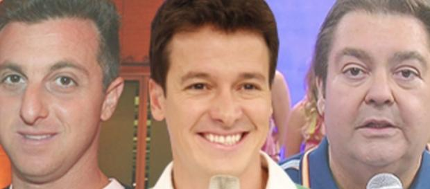 Faustão prefere Rodrigo Faro a Luciano Huck