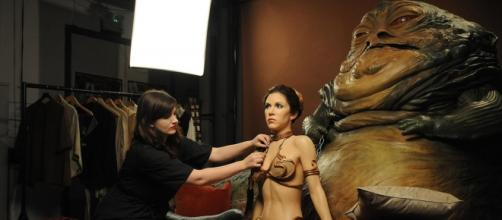 Carrie Fischer en El Retorno del Jedi