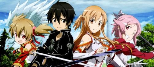 Los protagonistas de Sword Art Online