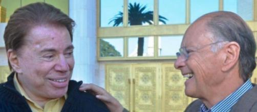 Silvio Santos e Edir (Reprodução/Record)