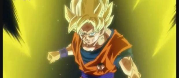 Goku dejando la transformacion Dios