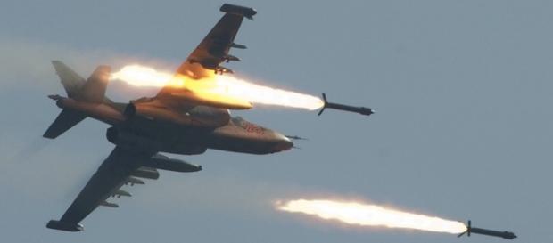 Rosja przeprowadza naloty w Syrii.