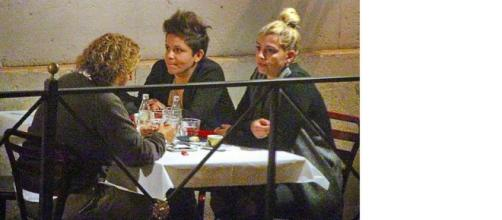 Cena da single per Emma Marrone a Roma.