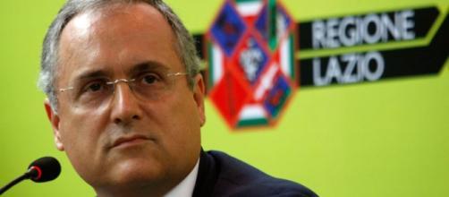 Claudio Lotito, presidente della Lazio