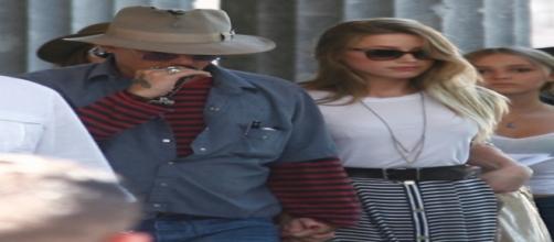 Johnny Depp con la figlia Lily Rose