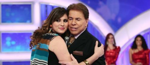 Lívia Andrade e Silvio Santos (Reprodução SBT)
