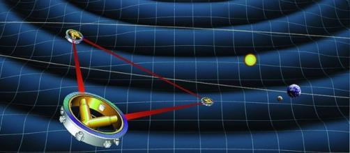 Recreación artística del interferómetro espacial
