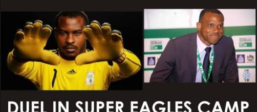 Super Eagles coach vs Captain in war
