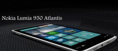 Un'immagine dello smartphone Nokia Lumia 950