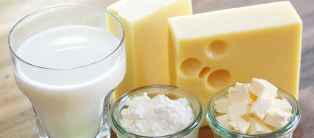 Derivados lácteos, exceso de calcio