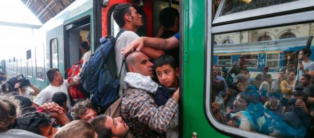 Imigranci próbujący dostać się do Niemiec