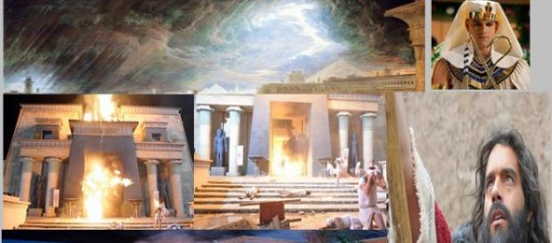 Ramsés manda executar os hebreus, Deus envia praga