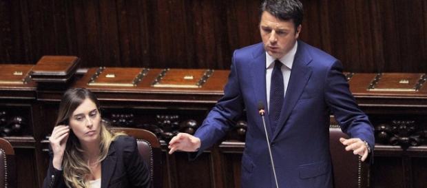 Riforme, Renzi e Boschi su senato e pensioni
