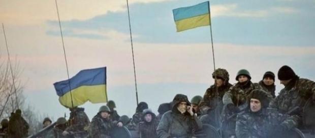 Ukraińscy żołnierze w Donbasie - Twitter: thWestph