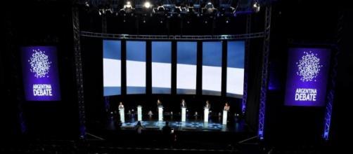 El primer debate presidencial de la Argentina.