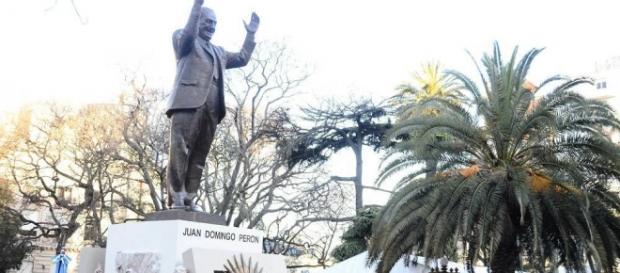 El nuevo monumento a Perón en Capital Federal.