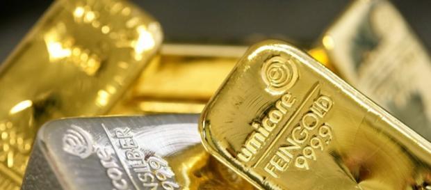 Lingotes de oro y plata; no se pueden imprimir
