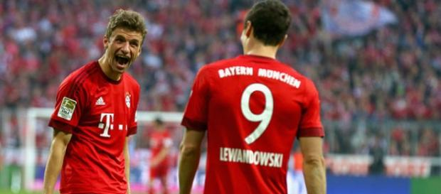 Müller y Lewandoski Fuente: GETTY IMAGES
