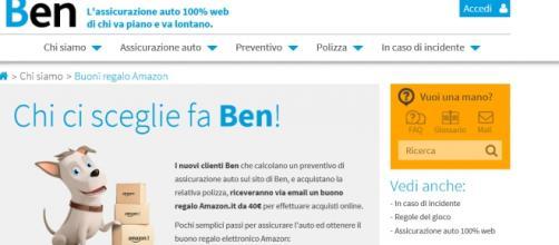 Chi ci sceglie fa Ben!, la promo del buono Amazon.
