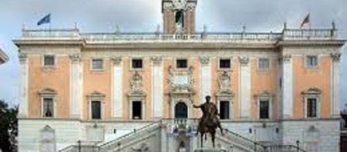 Il palazzo senatorio sede del comune di Roma