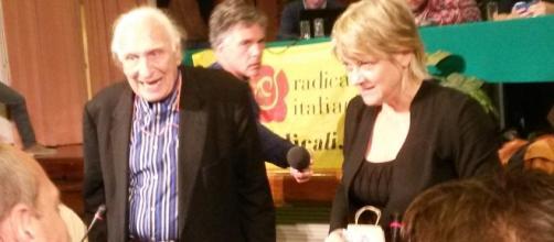 Pannella e Bernardini al congresso 2014.