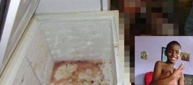 Corpo do menino de 9 anos encontrado no freezer