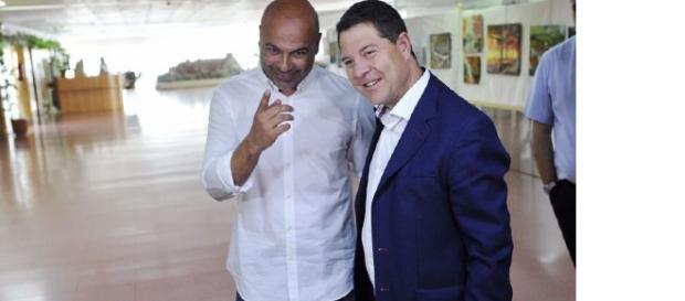 García Page (PSOE) y Molina (PODEMOS)