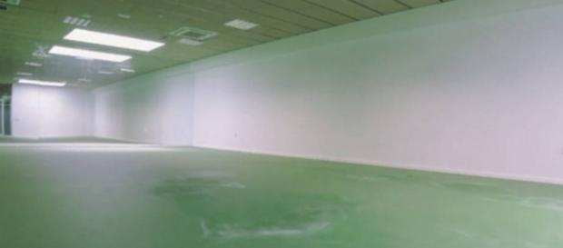 Zona inutilizada y construida para ser un gimnasio