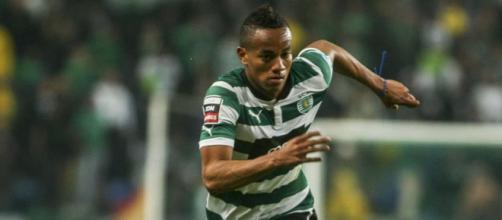 André Carrillo in maglia Sporting Lisbona