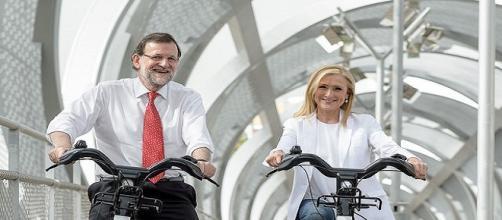Mariano Rajoy junto a Cristina Cifuentes