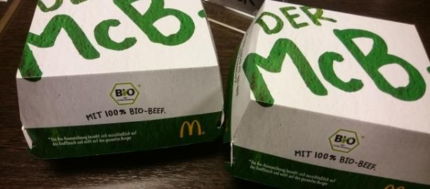 "Der neue Bio-Burger ""McB."", Fotos: Adler/privat"